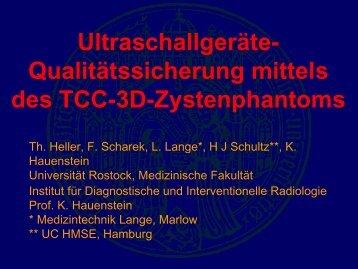 Ultraschallgeräte- Qualitätssicherung mittels des TCC-3D ...