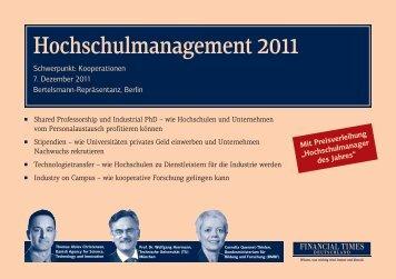 Hochschulmanagement 2011 - Stifterverband für die Deutsche ...