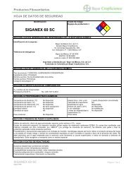 Nombre comercial: - Bayer CropScience Mexico