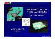 Vorlesung 12 (SS07) - Institut für Elektronik, TU-Graz