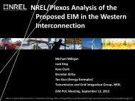 NREL - Western Governors' Association