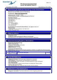 EG-Sicherheitsdatenblatt - Molto