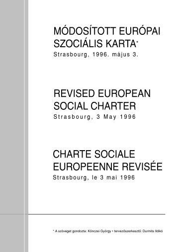 EUROPEAN SOCIAL CHARTER REVISED PDF
