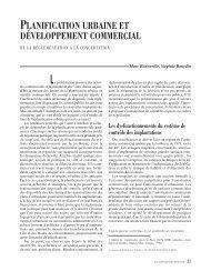 planification urbaine et développement commercial - Annales de la ...