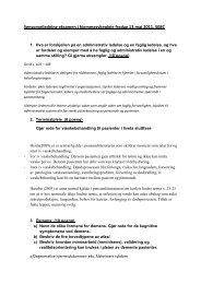 Sykepleie Sensorveiledning Fagforståelse i hjemmesykepleie 130511