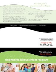 Neighborhood Investment Program - West Virginia Department of ...