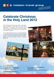 Celebrate Christmas in the Holy Land 2012 - Mission Travel
