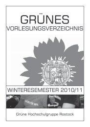 Grünen Vorlesungsverzeichnis - Grüne Hochschulgruppe Rostock