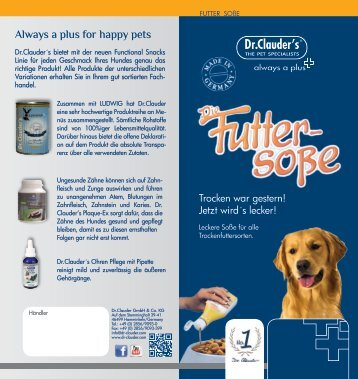 Always a plus for happy pets - Futtertester