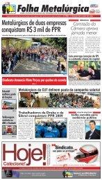 Metalúrgicos de duas empresas conquistam R$ 3 mil de ... - CNM/CUT