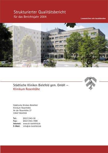 Strukturierter Qualitätsbericht - Klinikbewertungen