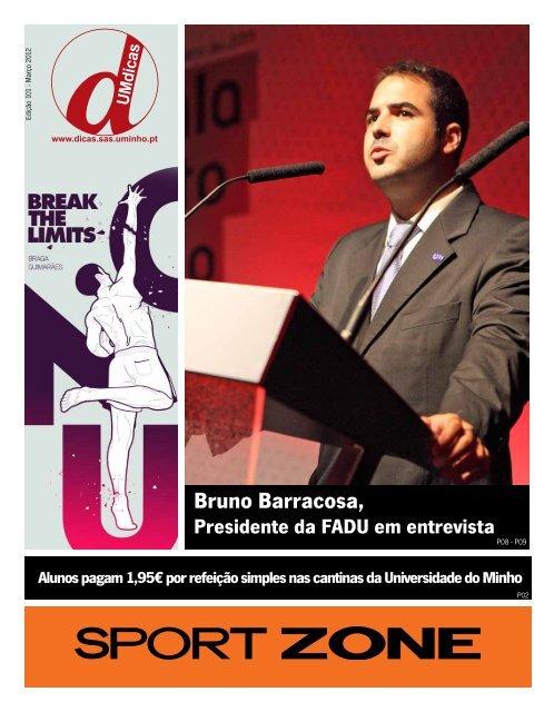 Bruno Barracosa, - UMdicas - Universidade do Minho