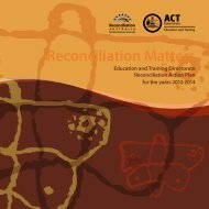 Reconciliation Matters: Action Plan 2012-2014 - Education and ...