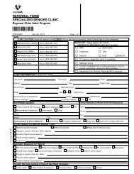 Specialized Seniors Clinic Referral Form - Physicians