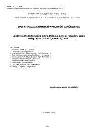 SIWZ - Powiatowy Zarząd Dróg w Pszczynie - Pszczyna