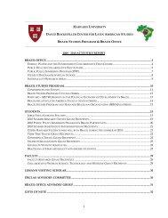 2009 - 2010 activities report brazil office - David Rockefeller Center ...