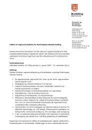 Udbud af vagtcentralydelse for Redningsberedskab Kolding