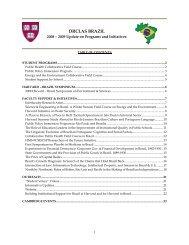 Harvard - Brazil Office - DRCLAS - David Rockefeller Center for ...