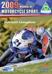 2009 Manual of Motorcycle Sport - Motorcycling Australia