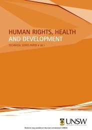 HUMAN RIGHTS, HEALTH AND DEVELOPMENT - VICCSO