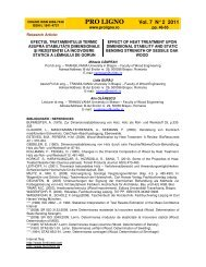 PRO LIGNO Vol. 7 N° 2 2011
