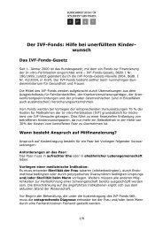 Der IVF-Fonds: Hilfe bei unerfülltem Kinder - Kinderwunschzentrum ...