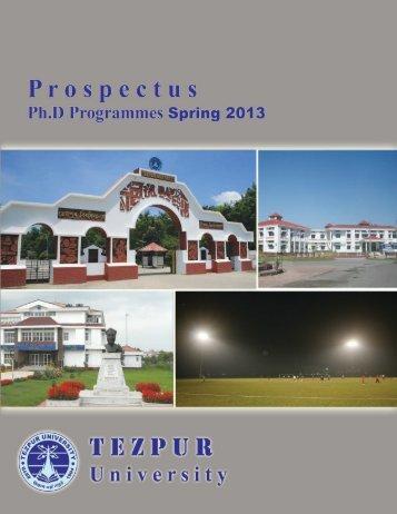 Click here to download Prospectus 2013 - Tezpur University