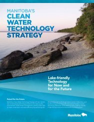 CLEAN WATER TEChNoLogy STRATEgy - Government of Manitoba