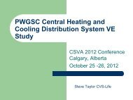 PWGSC Heating and Cooling VE Study - SCAV/CSVA