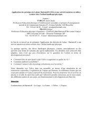 1 Application des principes de Laban/ Bartenieff - Université du ...