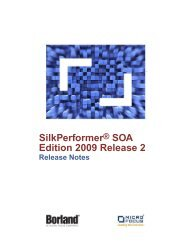 SilkPerformer Release Notes - Borland Technical Publications