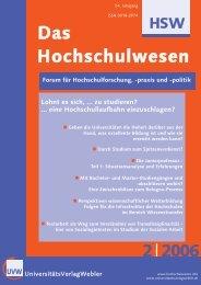 HSW - Das Hochschulwesen