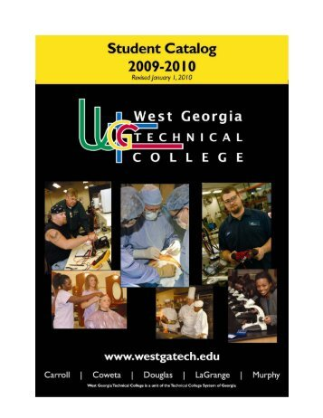 Student Catalog 2009-2010 - West Georgia Technical College