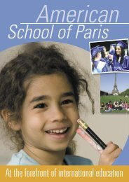 At the forefront of international education - American School of Paris