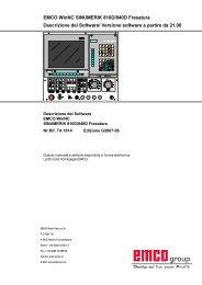 EMCO WinNC SINUMERIK 810D/840D Fresatura Descrizione del ...