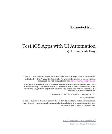 Test IOS Apps With UI Automation