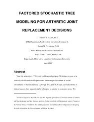 factored stochastic tree modeling for arthritic joint replacement ...