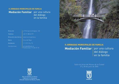 Mediación Familiar - Colegio Oficial de Psicólogos de Madrid