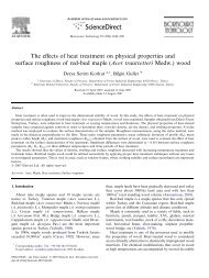 The effects of heat treatment on physical properties and surface ...