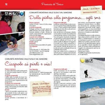 Visualizza le proposte nel dettaglio! (PDF) - Valle di Susa. Tesori di ...