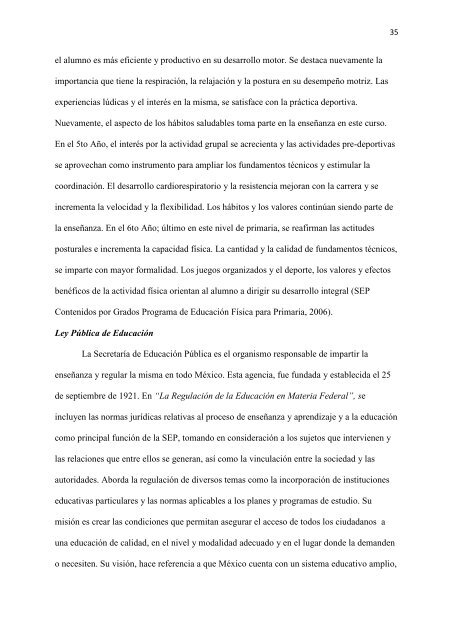 Programa de educación física de escuelas primarias en Latinoamérica