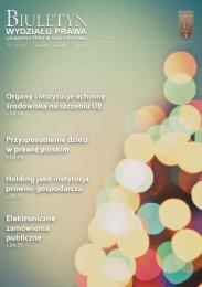 Grudzień 2012 - Styczeń 2013 - Wydział Prawa Uniwersytetu w ...