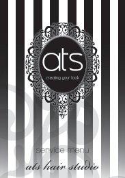 service menu - ATS Hair Studio