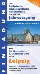 1. Dezember 2012 nach Leipzig - SAG - Sächsische Augenärztliche ...