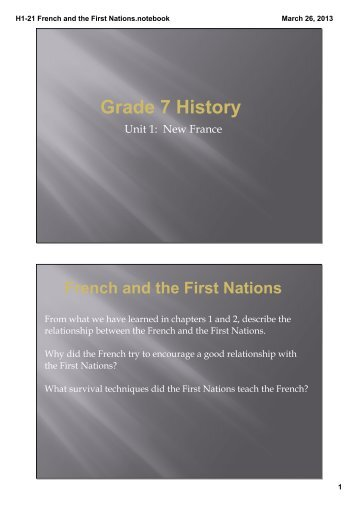 H1-21 French and the First Nations.notebook