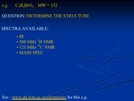 eg CH BrO MW = 152 QUESTION: DETERMINE THE STRUCTURE ...
