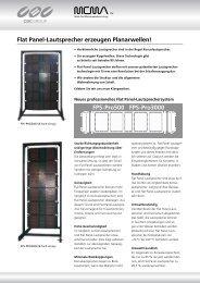 Flat Panel-Lautsprecher erzeugen Planarwellen! FPS ... - CBC CCTV