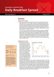 Daily Breakfast Spread - the DBS Vickers Securities Equities Research