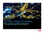 The high voltage DC breaker The power grid revolution