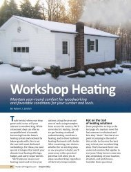 Workshop Heating - Woodcraft Magazine